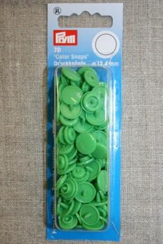 Plast-trykknap rund, lysegrøn