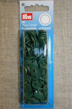 Plast-trykknap rund, mørkegrøn