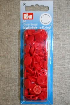 Plast-trykknap rund, rød