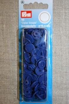Plast-trykknap rund, blå