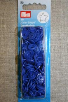Plast-trykknap stjerne, koboltblå