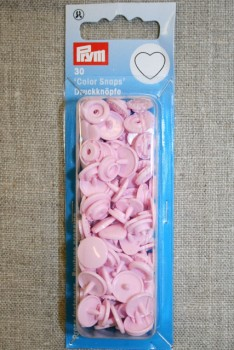 Plast-trykknap hjerte, lyserød