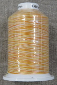 Sytråd multicolour i gul orange hvid