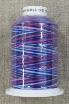 Sytråd multicolour i lilla cerisse blå