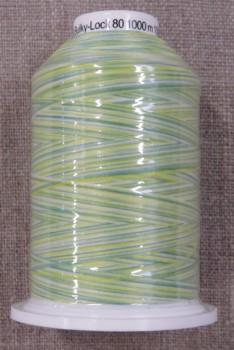 Sytråd multicolour i lysegrøn mint gul