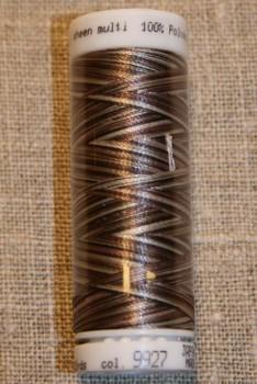 Broderitråd Mettler, multi mørkebrun-brun-kit