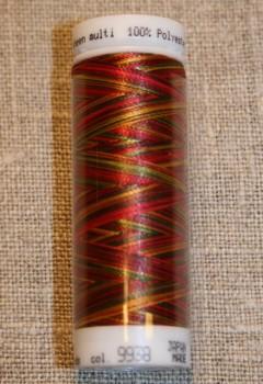 Broderitråd Mettler, multi rød-pink-grøn-gul