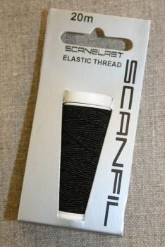 Elastik-tråd 20 meter, sort