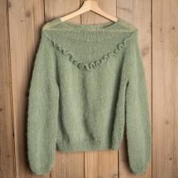 Uldklumpers strikkeopskrift - Flæse sweater Mysize