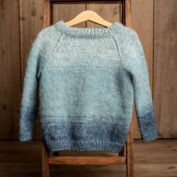 Uldklumpers strikkeopskrift - Luxuxsweater Str. 1-12 år