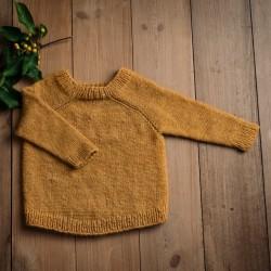 Uldklumpers strikkeopskrift - Vamsetsweater Str. 2-10 år