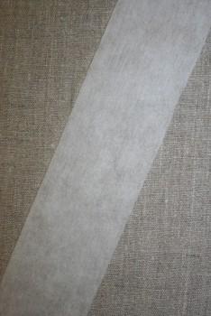 Vlies-bånd/vilene, hvid 55 mm.
