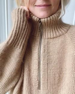 Zipper Sweater- PetiteKnit strikkeopskrift