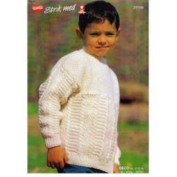 20159 Barnesweater m/ mønster-20