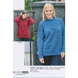 414472 Oversize sweater m/hulmønster-20