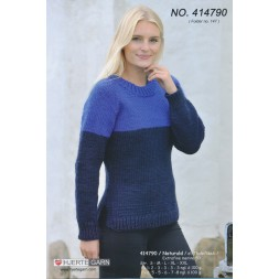 414790 2-farvet top-down sweater-20
