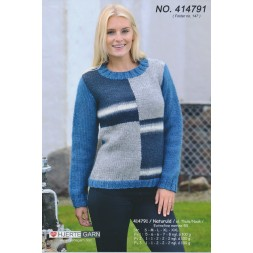 414791 Sweater m/farveblokke-20