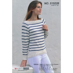 515226 Stribet top-down sweater-20