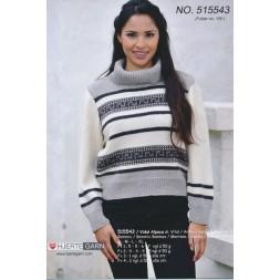 515543 Bluse i naturfarver-20