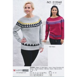 515548 Sweater m/trekanter-20