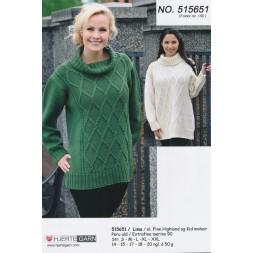 515651 Sweater m/rudemønster-20