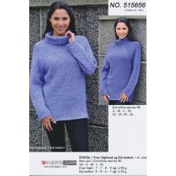 515656 Sweater m/drejet rib-20