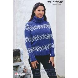 515867 Sweater m/nordisk mønster-20