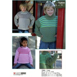 "75894 Sweater m/""lus"", striber and snoninger-20"