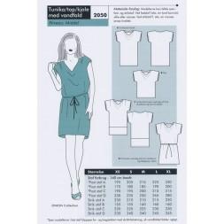 Onion 2050 Tunika-top-kjole med vandfald-20