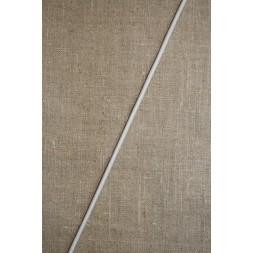 Elastik-anoraksnor i hvid 2 mm.-20