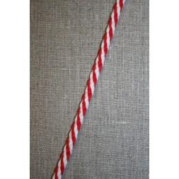 Rest 2-farvet anoraksnor hvid/rød 50 cm.-20