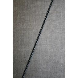 Elastik anoraksnor m/tern sort/hvid/grøn-20