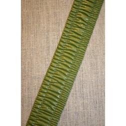Imiteret læder bånd, mørk lime-20