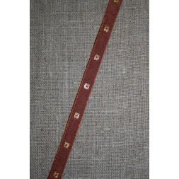 Bånd med firkanter, rødbrun-guld-20