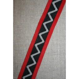 Sportsbånd med zig-zag sort-rød-off-white-20