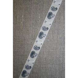 Bånd kit koksgrå, med sjals-mønster-20