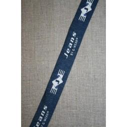 """Rest Mørkeblå-lysegrå bånd """"Jeans"""", 155 cm.-20"""