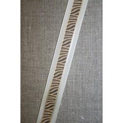 Bånd med zebra-print creme-brun-guld-20