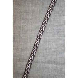 Flettet bånd brun-hvid-20
