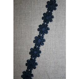 Bånd med marguerit, mørkeblå-20