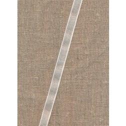 Hør bånd med offwhite kant, 10 mm.-20