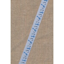 Blankt bånd i lyseblå med giraffer-20