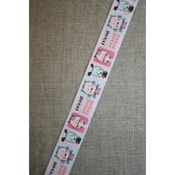 Børnebånd med dyr, lyserød-pink-aqua-20