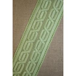 Blonde m/kabel-mønster lysegrøn-20