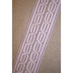 Blonde m/kabel-mønster lyselilla-20