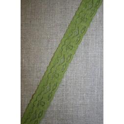 Strækblonde 20 mm. mørk lime-20