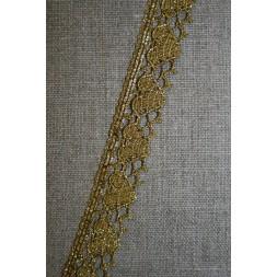 Blonde metalic 18 mm m/hjerter, gl.guld-20