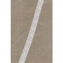 Strækblonde 20 mm. ecru-knækket hvid-20