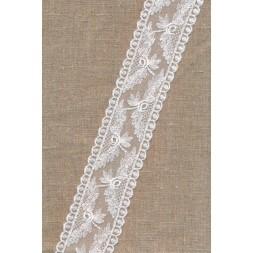 Spartel-/tyl blonde i knækket hvid, 50 mm.-20