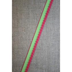 Kantelastik 2-farvet lime pink-20